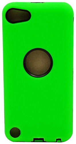 mySimple Drop Proof Hybrid Armor Design Case for iPod 5 with Built in Screen Protector & Modern Sleek Simple {Lime Green and Black Colors}