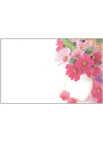 50 Memo/Enclosure/Floral/Gift Cards - Flower Design (MC2035)