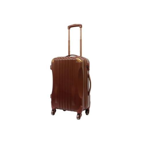 ハード キャリーケース actus color's ジッパーキャリー ブラウン Mサイズ 57cm スーツケース