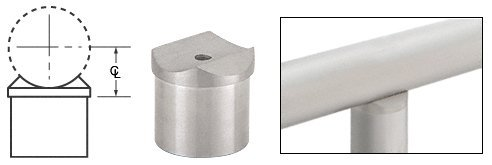 CRL Brushed Stainless Perpendicular Collar for 2