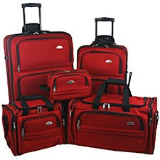 Samsonite Luggage Set - Five Piece Nested Set (Red)