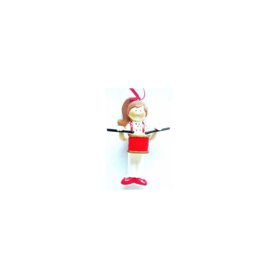 Female Drummer Band Christmas Ornament or Decor Personalize