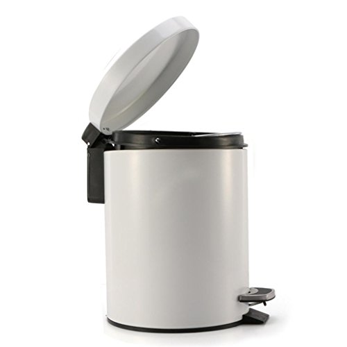 zyqyjgf stainless steel touchless trash can with lid for bathroom kitchen office 12l white home. Black Bedroom Furniture Sets. Home Design Ideas