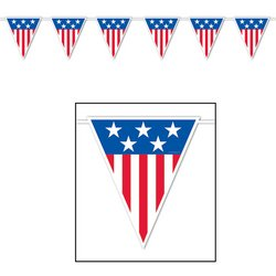 American Spirit Giant Pennant Banner Party Accessory (1 count) (1/Pkg)