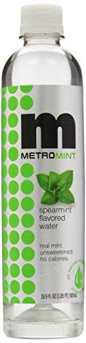 Metromint Water, Spearmint, 16.9-Ounce Bottles (Pack of 12)