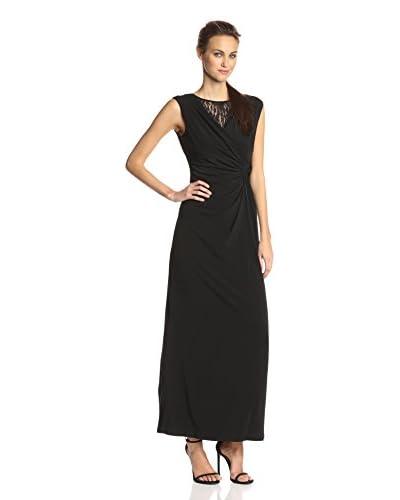 Ellen Tracy Women's Lace V-Neck Gown