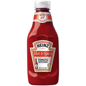 Heinz, Hot & Spicy Tomato Ketchup, 14Oz Bottle (Pack Of 3) front-515791
