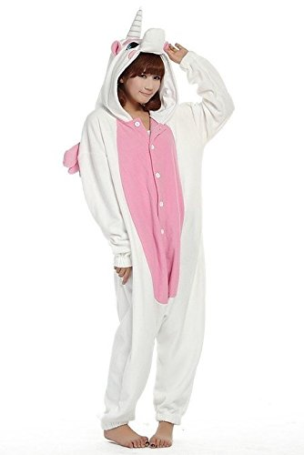 "Pink Unicorn Kigurumi Pajamas Adult Anime Cosplay Halloween Costume ,size S (58""-64"")"