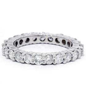 1.50CT Prong Diamond Eternity Ring 14K White Gold
