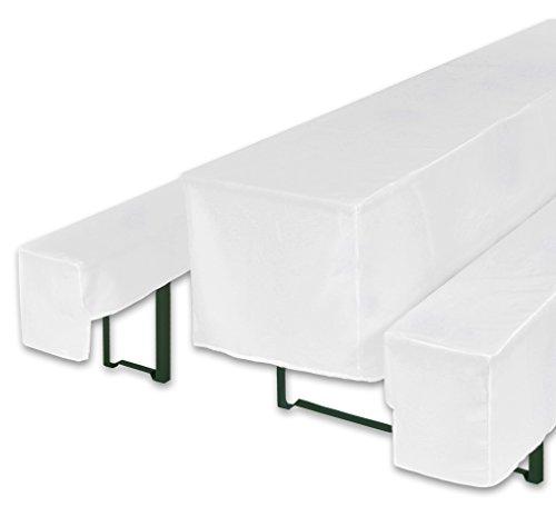 bellboni biertischhussen f r bierzeltgarnitur bierbank hussen wei 3er set f r biertische mit. Black Bedroom Furniture Sets. Home Design Ideas