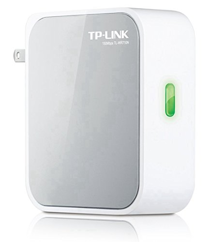 TP-LINK TL-WR710N 150Mbps Wireless N Mini Pocket Router, Repeater, Client, 2 LAN Ports, USB Port for Phone Charging and Storage (Wireless To Wired Adapter compare prices)