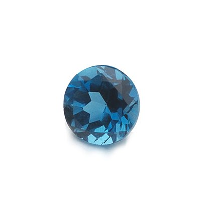 1.00 Ct of AAA 6 mm Round Loose London Blue Topaz