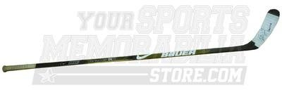 Boston Bruins Milan Lucic Signed Game Used Nike Bauer Stick with Inscription
