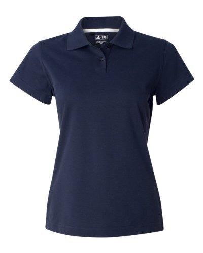 Adidas Ladies' Climalite Pique Polo (Navy/White) (2X-Large)