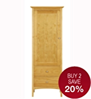 Hastings Natural Single Wardrobe