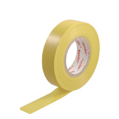 73Mm X 18Mm Yellow Pvc Adhesive Electrical Insulation Tape 21M