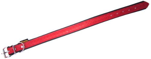 heim-tredi-3768352-leather-dog-collar-with-imprinted-pattern-20-mm-w-x-35-cm-l-marlboro-red-with-bla
