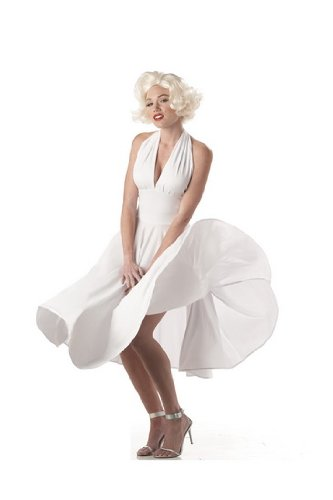 Sexy Womens Adult Sexy Marilyn Monroe Dress Costume Halloween Outfit