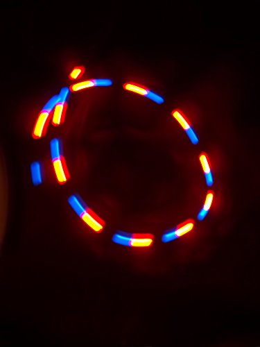 Daylight® Lot Of (10) 3Crd27-Pubr Purple Blue Red 3 Color(Tri-Color) Strobe 5Mm Diffused Flash Led Strobing (Can Be Used For Led Hula Hoops!)