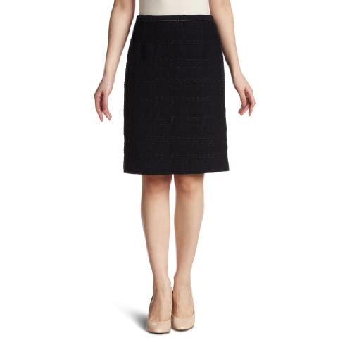 (ロペ)ROPE' ツイードトリミングタイトスカート GGC-1302 40 ネイビー 40
