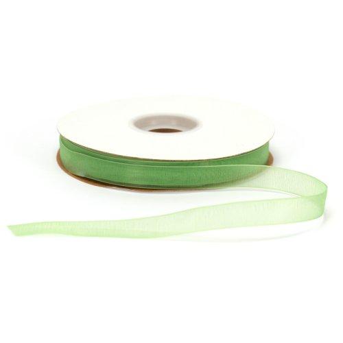 Offray Lady Chiffon Sheer Craft Ribbon, 5/8-Inch Wide by 100-Yard Spool, Kiwi