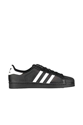Adidas Superstar Foundation Scarpe da ginnastica, Uomo, Nero (Cblack/Ftwwht/Cblack), 45 1/3
