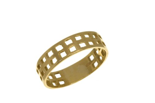 9ct Yellow Gold Ladies' Band Ring Size H