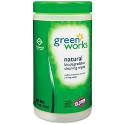 Green Works 30380 Commercial Solutions Disinfecting Wipe, Original (62 Count) (Clorox Commercial Wipes compare prices)