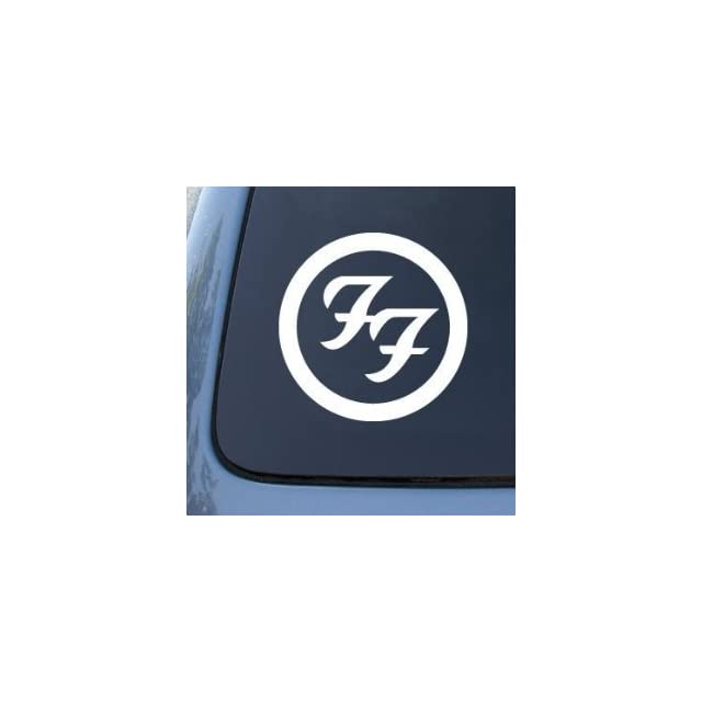 FOO FIGHTERS LOGO Style #1   5.5 WHITE Decal   NOTEBOOK, LAPTOP, IPAD, WINDOW, WALL, CAR, TRUCK, MOTORCYCLE