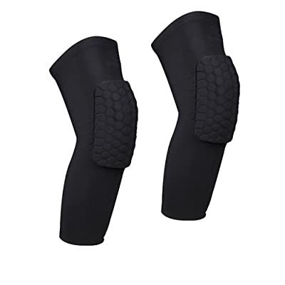 AceList 2 Packs (1 Pair) Protective Compression Wear - Men & Women Basketball Brace Support - Best to Immobilize, Strap & Wrap Knee for Volleyball, Football, Contact Sports