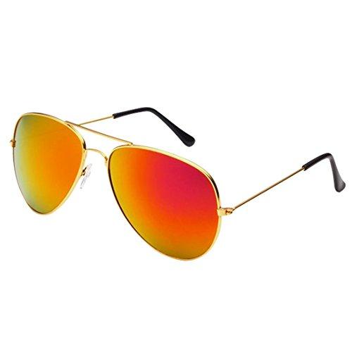 Desen Unisex Adult Aviator Sunglasses (Gold pink)