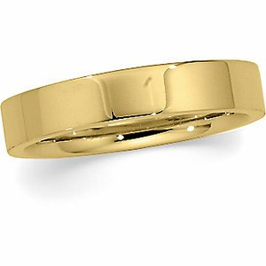 Genuine IceCarats Designer Jewelry Gift 10K Yellow Gold Wedding Band Ring Ring. 04.00 Mm Flat Comfort Fit Band In 10K Yellowgold Size 10.5