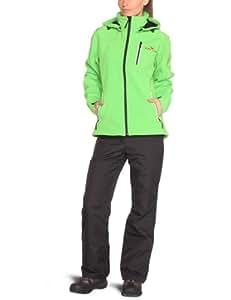 Black Canyon Damen Softshell Jacke mit Kapuze,  grün, 36 (S),  BC2621
