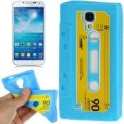 Tape Style Anti-slip Silicone Case for Samsung Galaxy S IV / i9500 (Baby Blue)