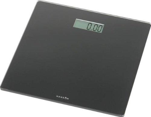 Hanson HX6000 Slim Electronic Glass Bathroom Scale Black