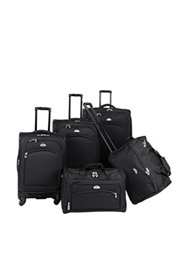 American Flyer South West Collection 5-Piece Spinner Set, Black
