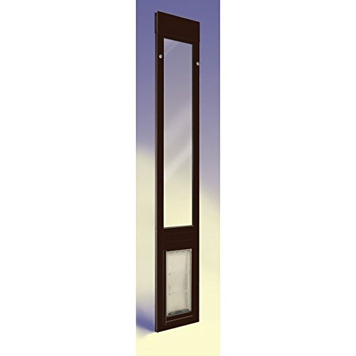 "Patio Pacific - Quick Panel 3 - Extra Large With Endura Flap - 93.25""-96.25"", Bronze Frame, Pet Door For Sliding Glass Doors"