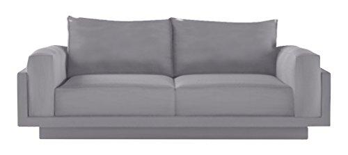 FEYDOM FEY810014 2-3 Sitzer-Sofa Cloud-B mit Schlaffunktion, Veloursstoff, mittelgrau