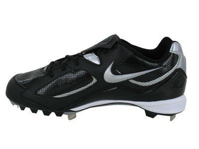 pictures of Nike Men's NIKE SLASHER BASEBALL CLEATS 13 (BLACK/METALLIC SILVER)