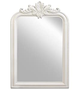 wandspiegel spiegel weiss holzrahmen 78x50cm k che haushalt. Black Bedroom Furniture Sets. Home Design Ideas