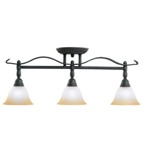 7734Dbk Pomeroy 3Lt Rail Light, Distressed Black Finish With Sunrise Marble Glass front-935874