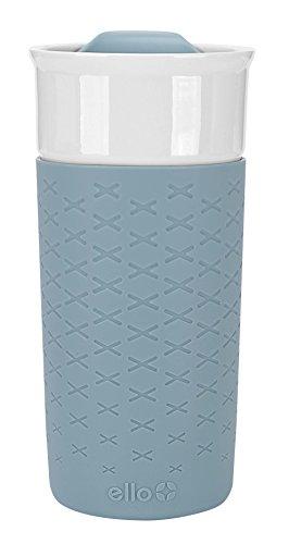 Ello Ogden BPA-Free Ceramic Travel Mug with Lid, 16 oz, Green Moss (Glass Travel Coffee Mug compare prices)