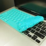 """TopCase® Solid TEAL Keyboard Silicone Cover Skin for Macbook 13"""" Unibody / Macbook Pro 13"""" 15"""" 17"""" with or without Retina Display + TOPCASE® Logo Mouse Pad"""