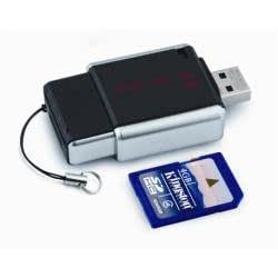 Kingston MobileLite USB 2.0 Multi-card Reader with 4 GB Class 4 SDHC Flash Memory Card FCR-MLG2+SD4/4GB