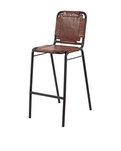 Artistic Lighting Industrial Bar Stool, Tobacco/Black Iron