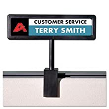 Advantus People Pointer Cubicle Sign, Plastic, 9 x 2.5 Inches, Plastic Cover, Adjustable Black Base (75334)