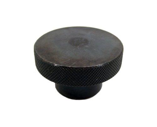 JW Winco Steel Tapped Knob, Knurled, Threaded Hole, 1/2
