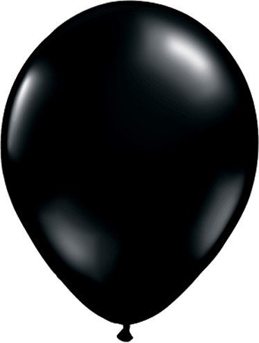 5 Inch (100 ct.)-Black Qualatex Latex Balloons - 1