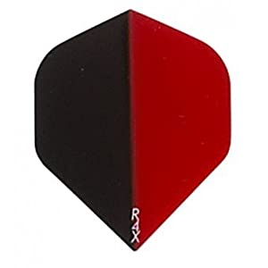 Buy 5 Sets of 3 Dart Flights - 1658 - Ruthless R4X Black Red Standard Double Thick Flights by Dart Brokers