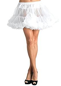 Leg Avenue Women's Petticoat Dress, White, One Size
